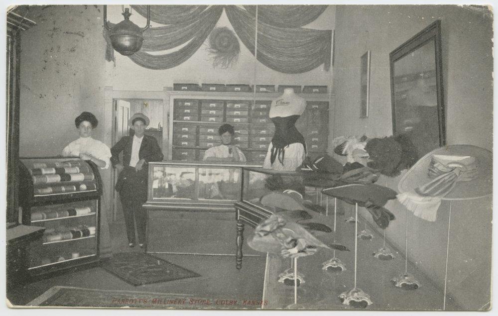 Parrott's millinery store, Colby, Kansas - 1
