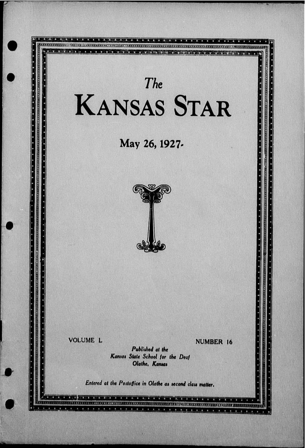 The Kansas Star, volume 50, number 16 - Front cover