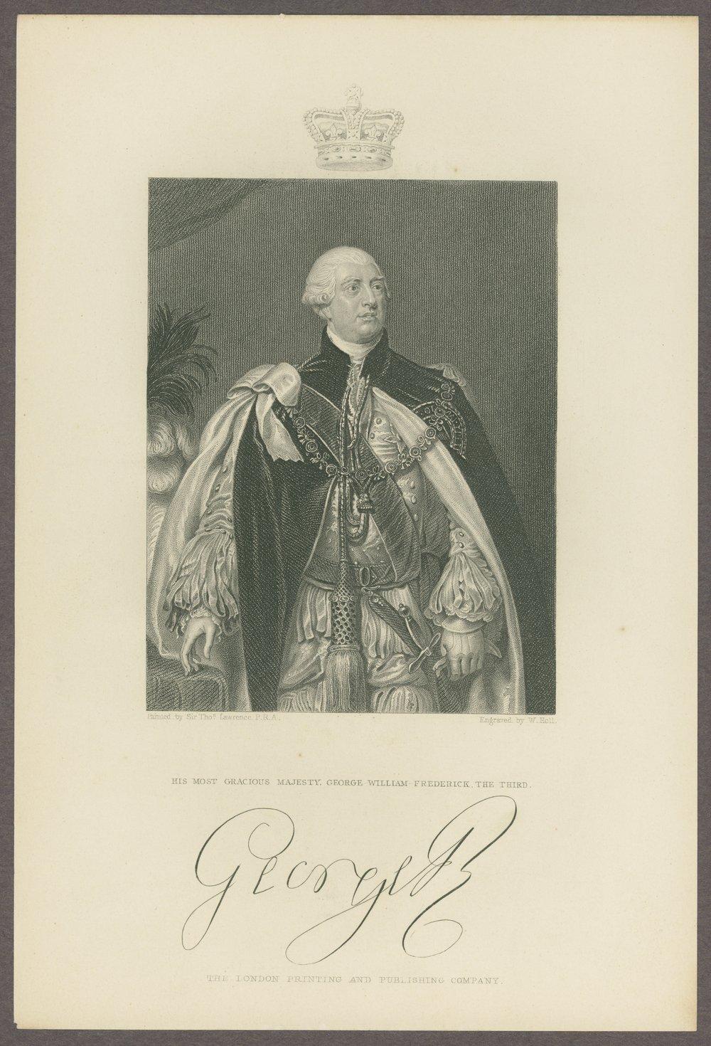 King George III materials - 2