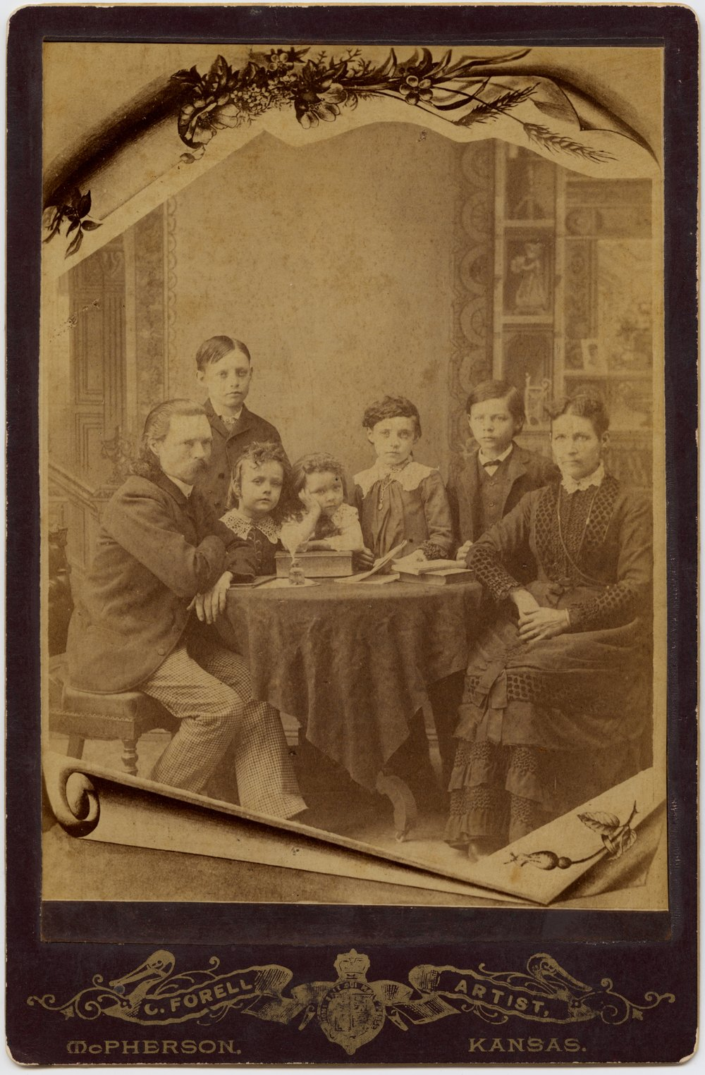 Carl and Mary Forell with their children