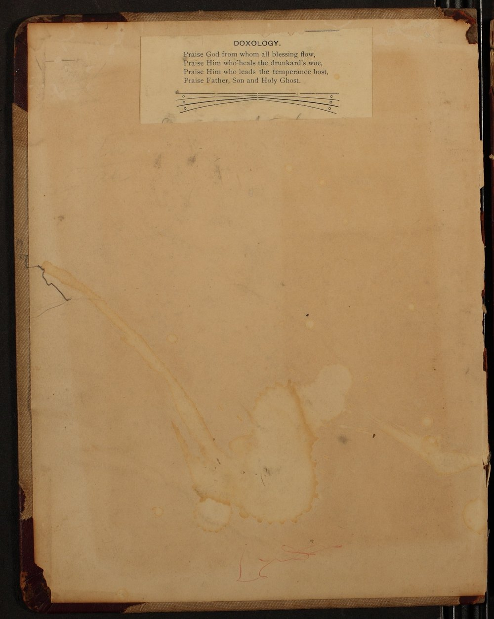 Minutes of the McPherson Chapter of the Woman's Christian Temperance Union - Inside Front Cover