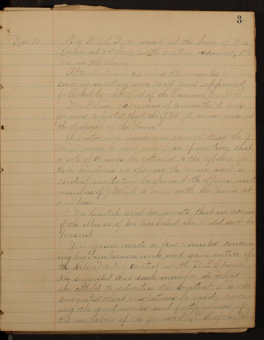 Minutes of the McPherson Chapter of the Woman's Christian Temperance Union - 3
