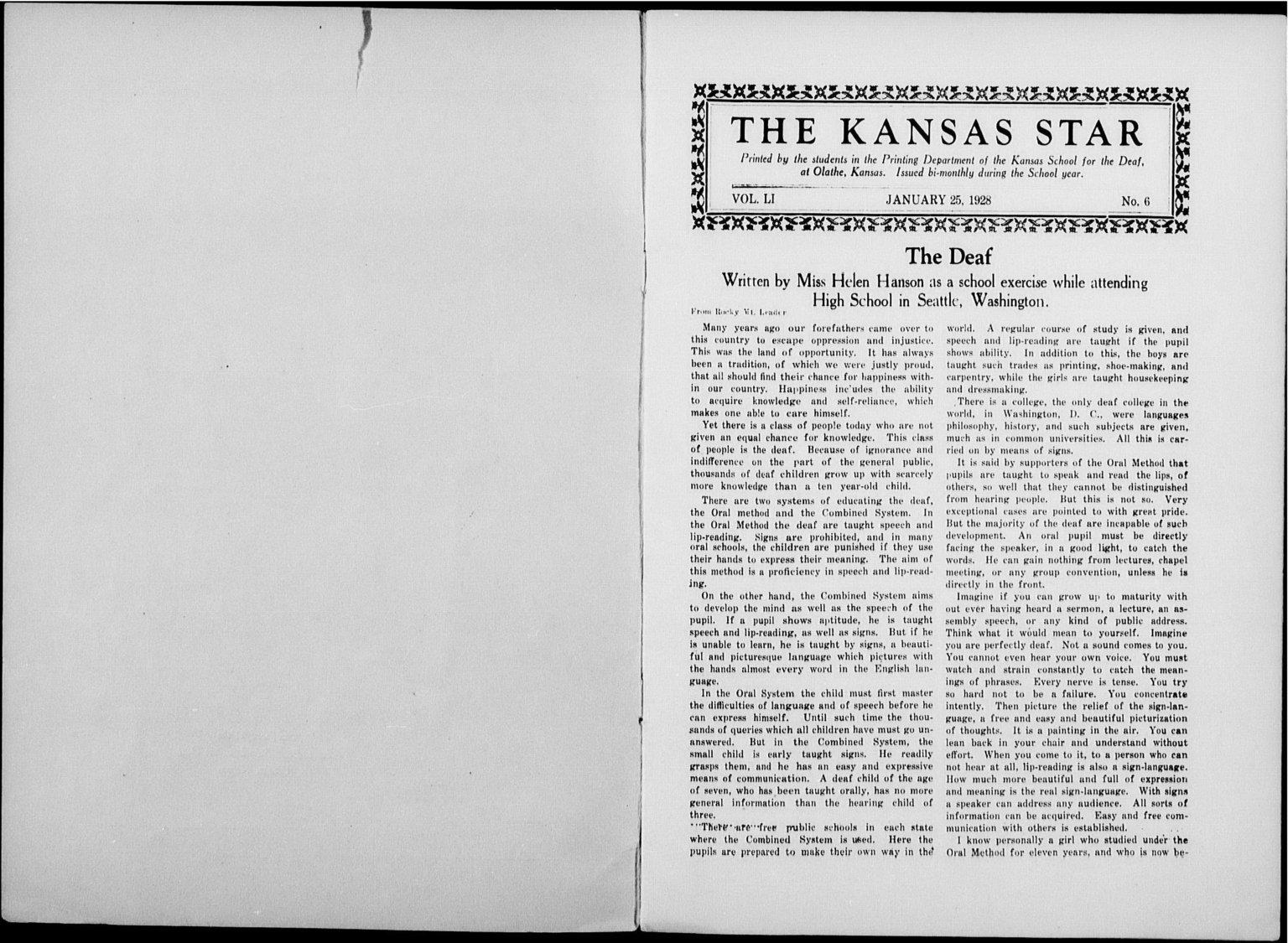 The Kansas Star, volume 51, number 6 - Inside cover -1