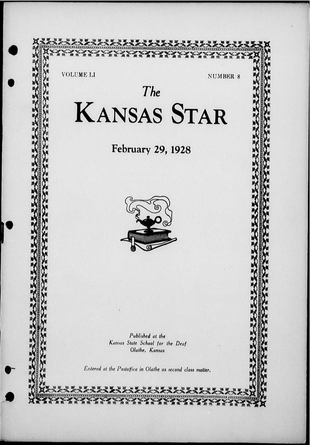The Kansas Star, volume 51, number 8 - Front cover