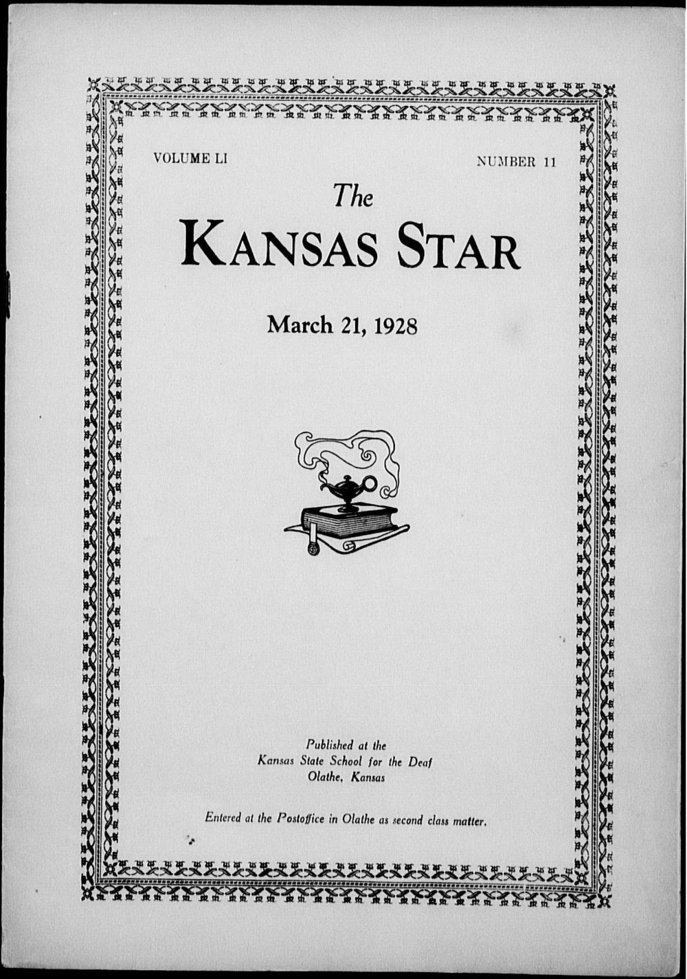 The Kansas Star, volume 51, number 11 - Front cover