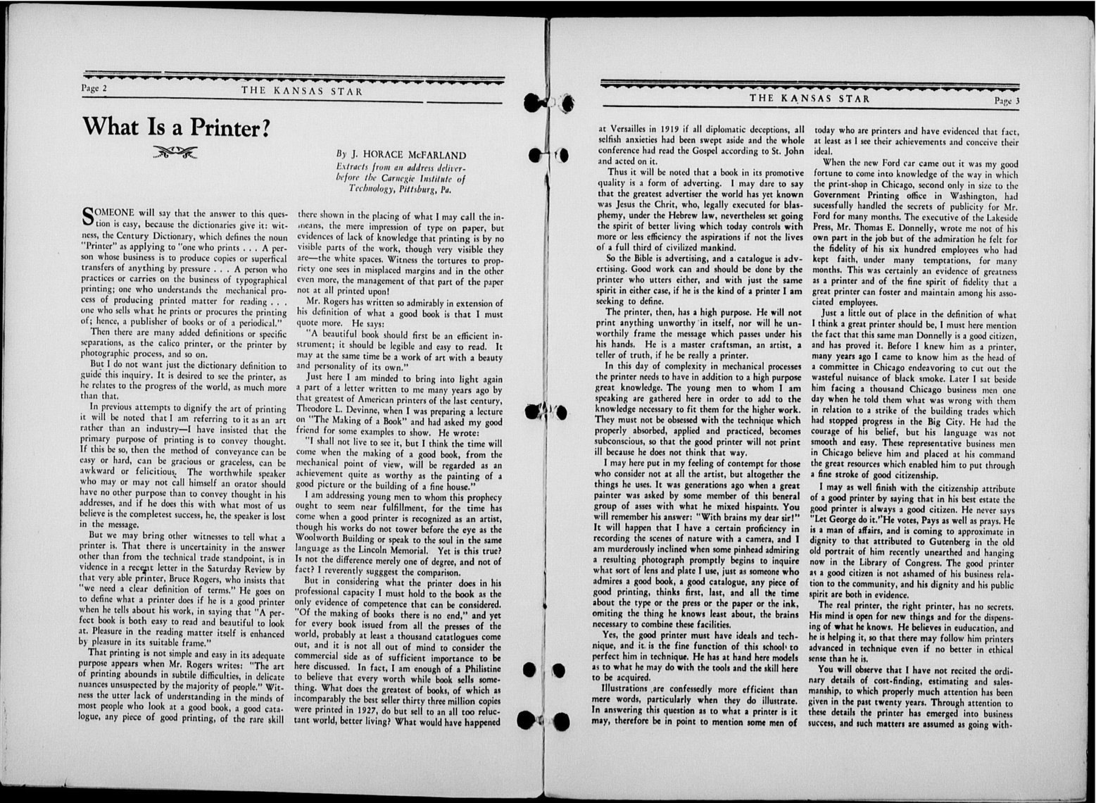The Kansas Star, volume 52, number 1 - 2-3