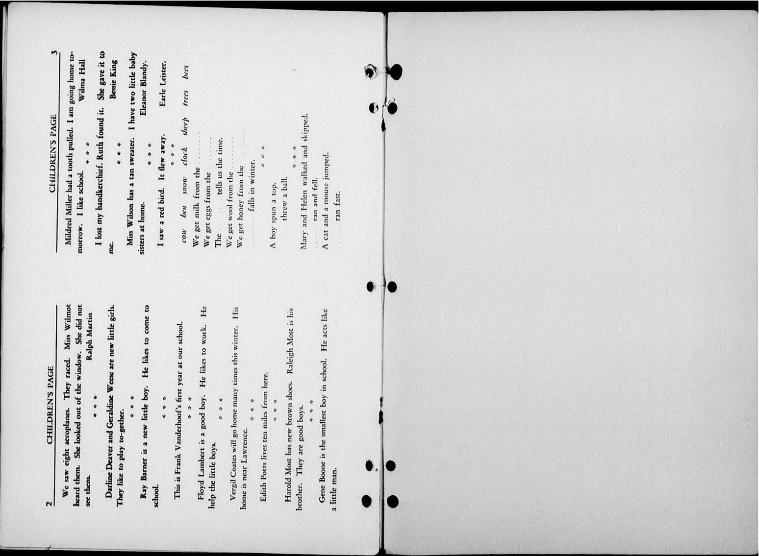 The Kansas Star, volume 52, number 1 - Children's page 2-3