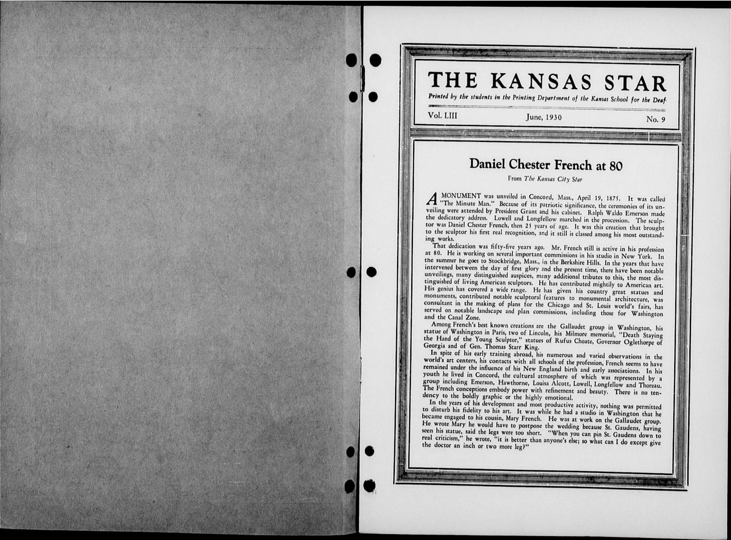 The Kansas Star, volume 53, number 9 - Inside cover-1