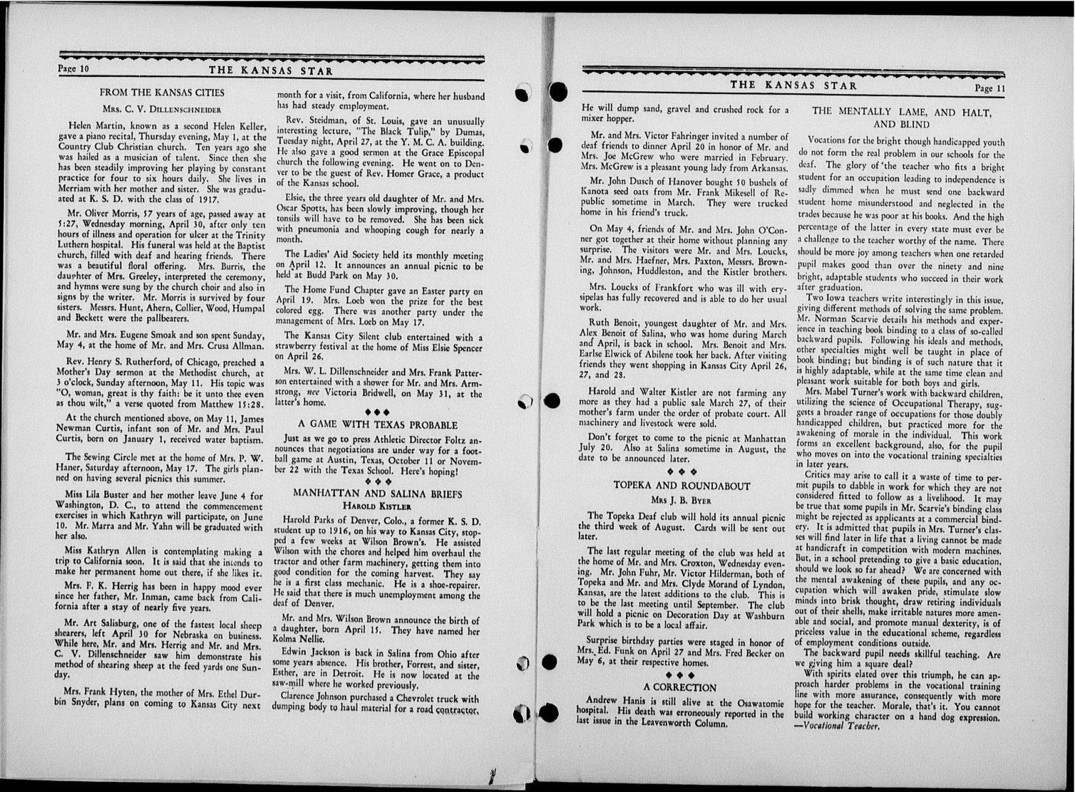 The Kansas Star, volume 53, number 9 - 10-11