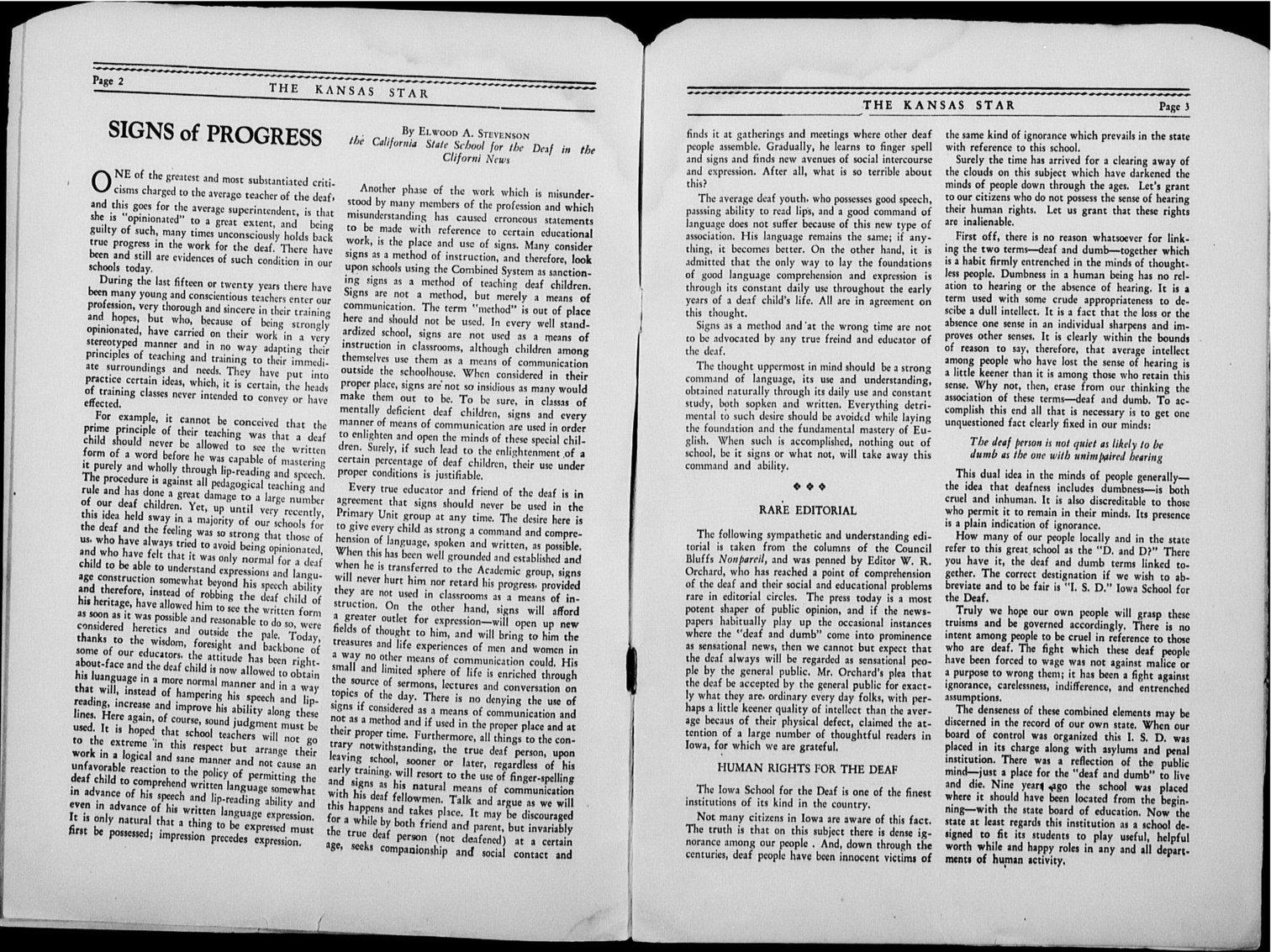 The Kansas Star, volume 44, number 2 - 2-3