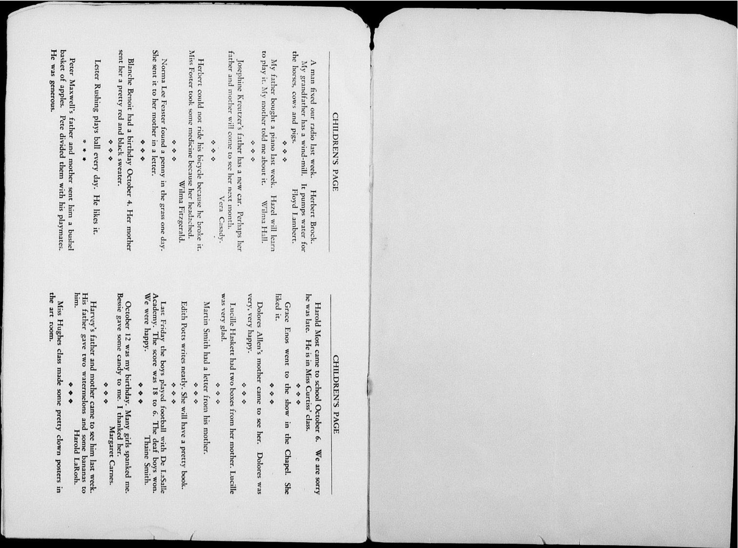 The Kansas Star, volume 44, number 2 - Children's page-inside back