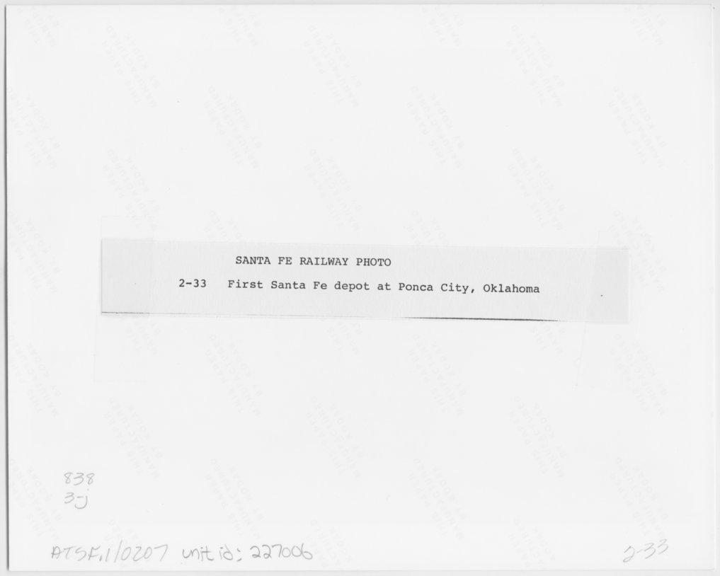 Atchison, Topeka & Santa Fe Railway Company depot, Ponca City, Oklahoma - 2