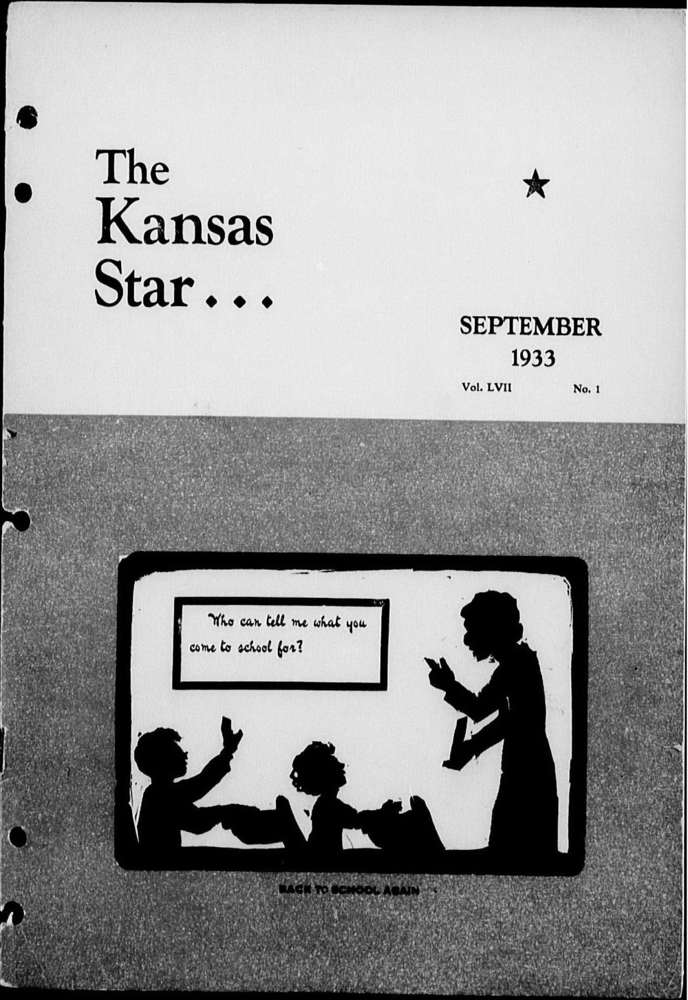 The Kansas Star, volume LVII, number 1 - Front cover