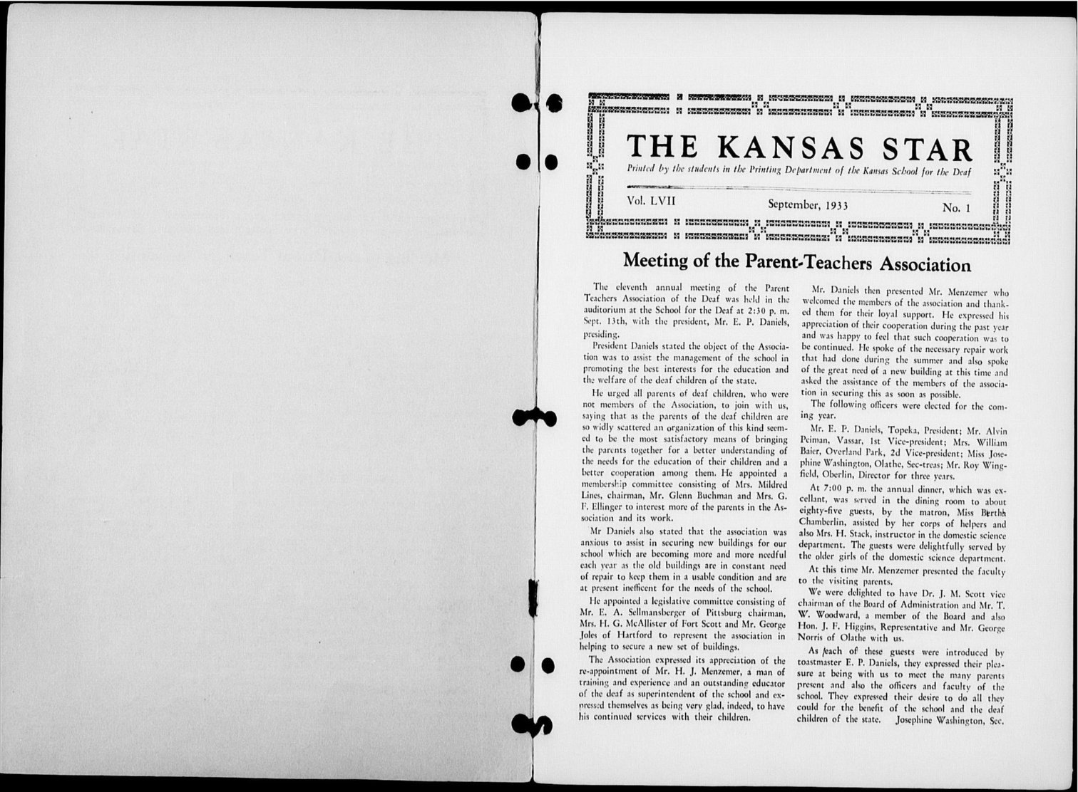 The Kansas Star, volume LVII, number 1 - Inside cover-1