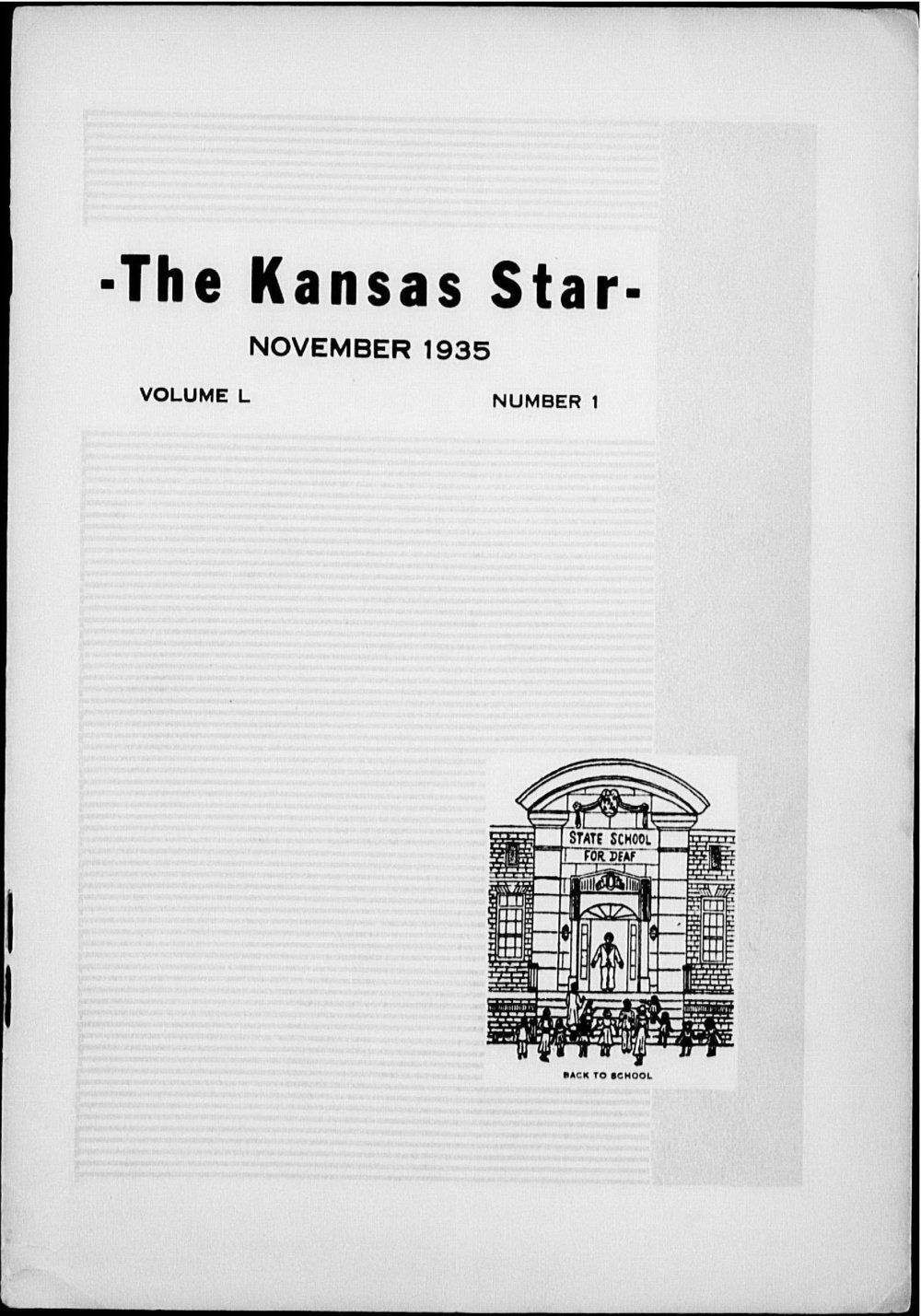 The Kansas Star, volume 50, number 1 - Front cover