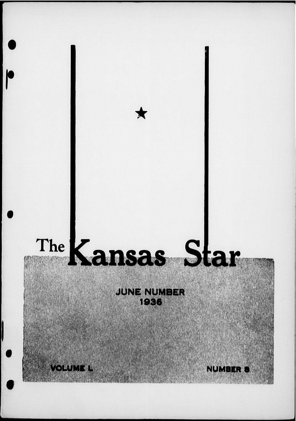 The Kansas Star, volume 50, number 8 - Front cover