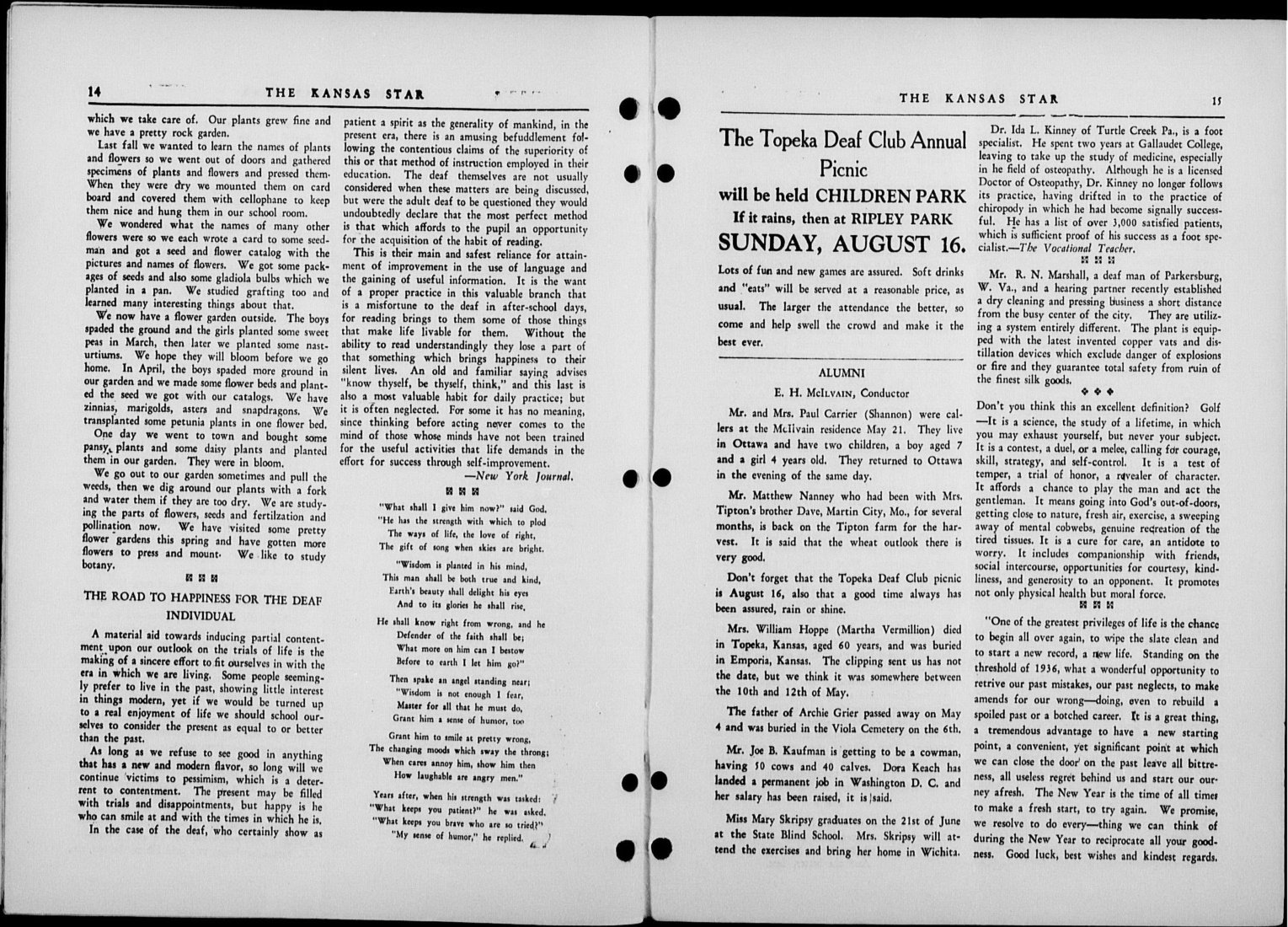 The Kansas Star, volume 50, number 8 - 14-15