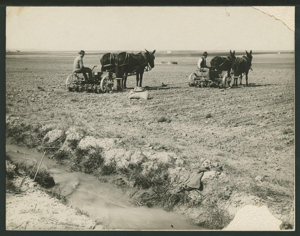 Planting a crop in Seward County, Kansas