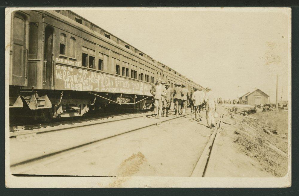 Union Pacific Railroad train at Camp Funston - 1