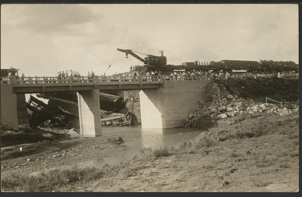 Train wreck in Seward County, Kansas