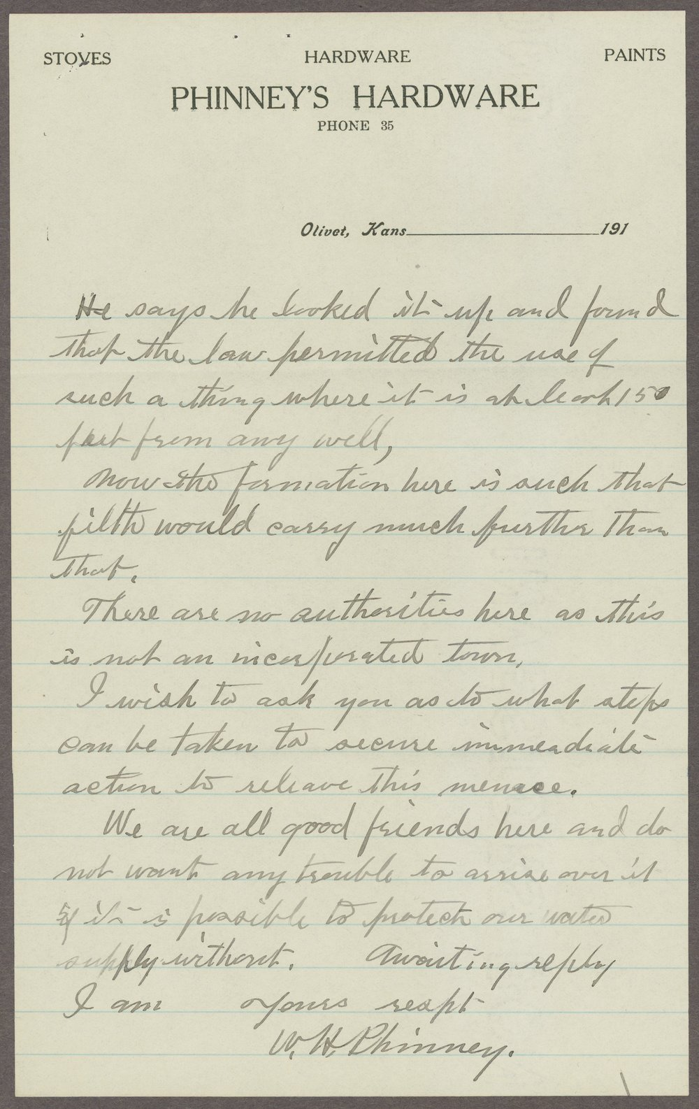 William H. Phinney to Samuel J. Crumbine - 4
