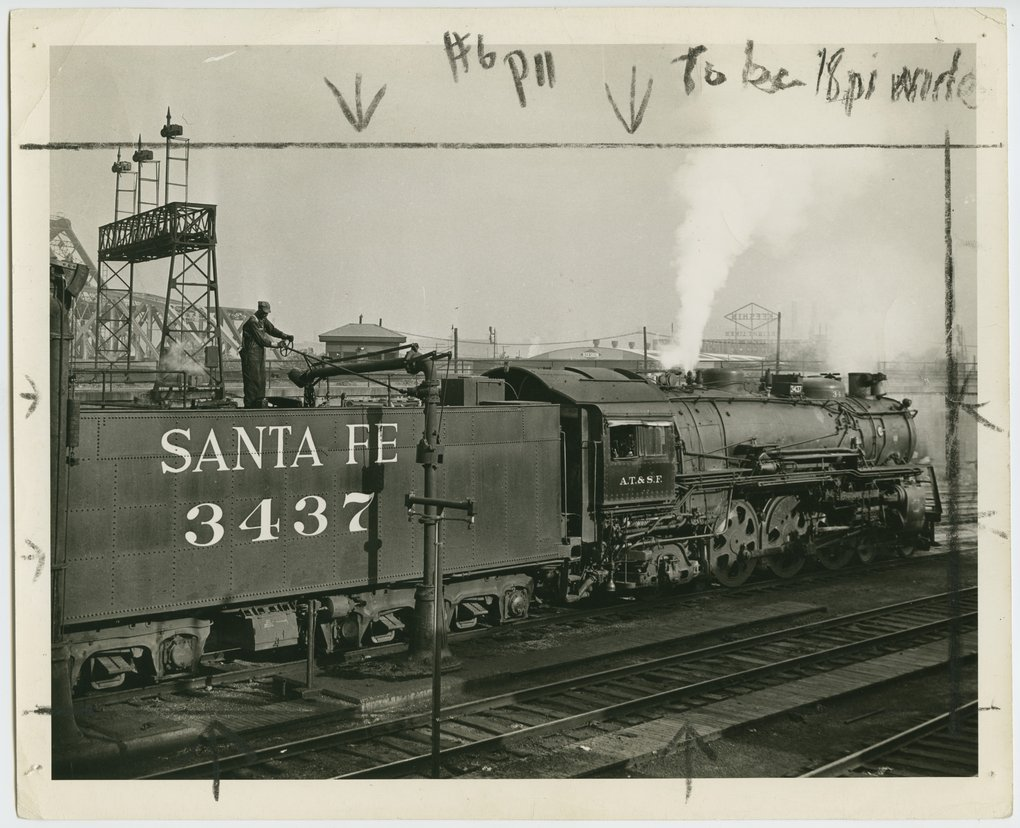 Atchison, Topeka & Santa Fe Railway Company's steam locomotive #3437 - 1
