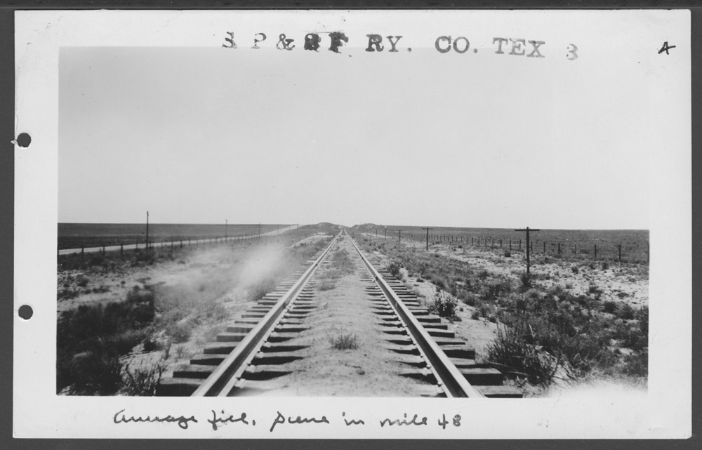 South Plains & Santa Fe Railway Company line - 1