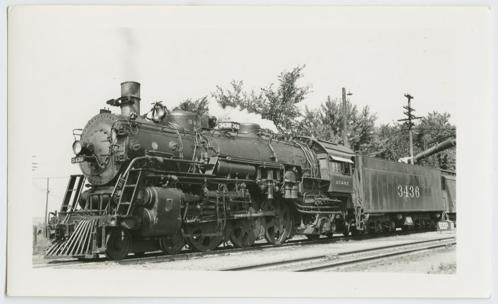 Atchison, Topeka & Santa Fe Railway Company's steam locomotive #3436 - 1