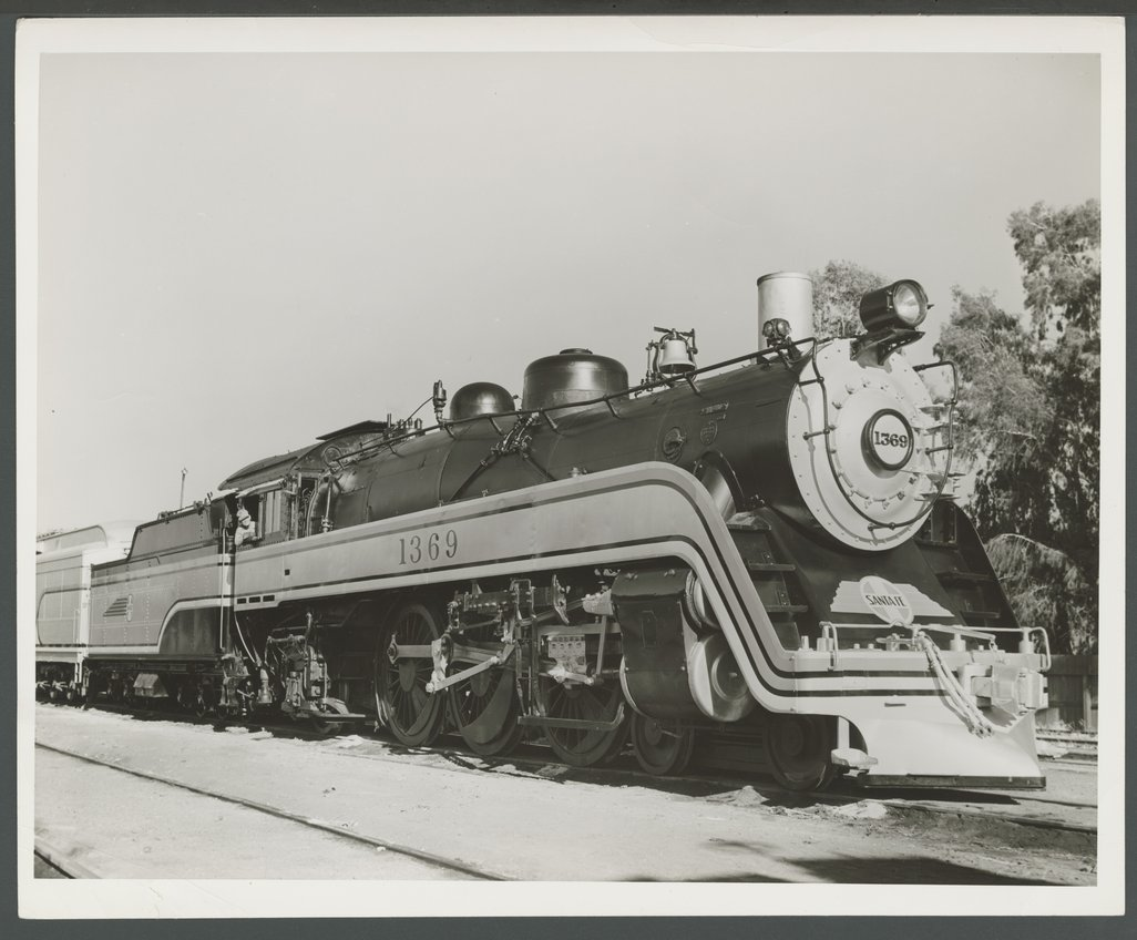 Atchison, Topeka & Santa Fe Railway Company's steam locomotive #1369 -  Kansas Memory - Kansas Historical Society