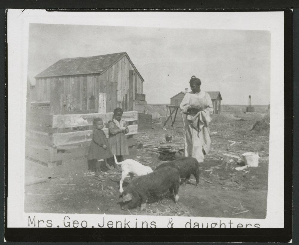 Mrs. George Jenkins and daughters, Clark County, Kansas