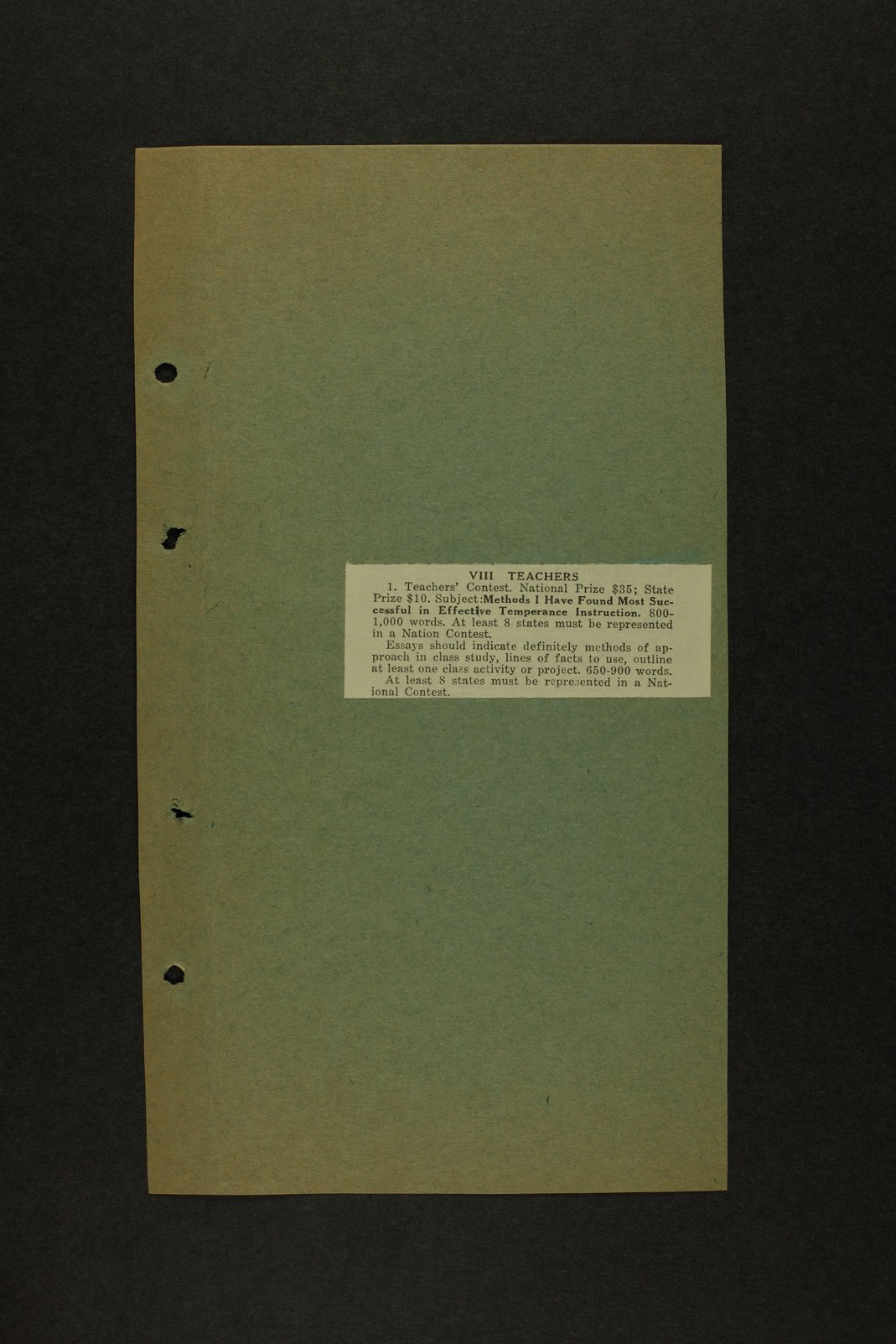 Kansas Woman's Christian Temperance Union permanent records - 2