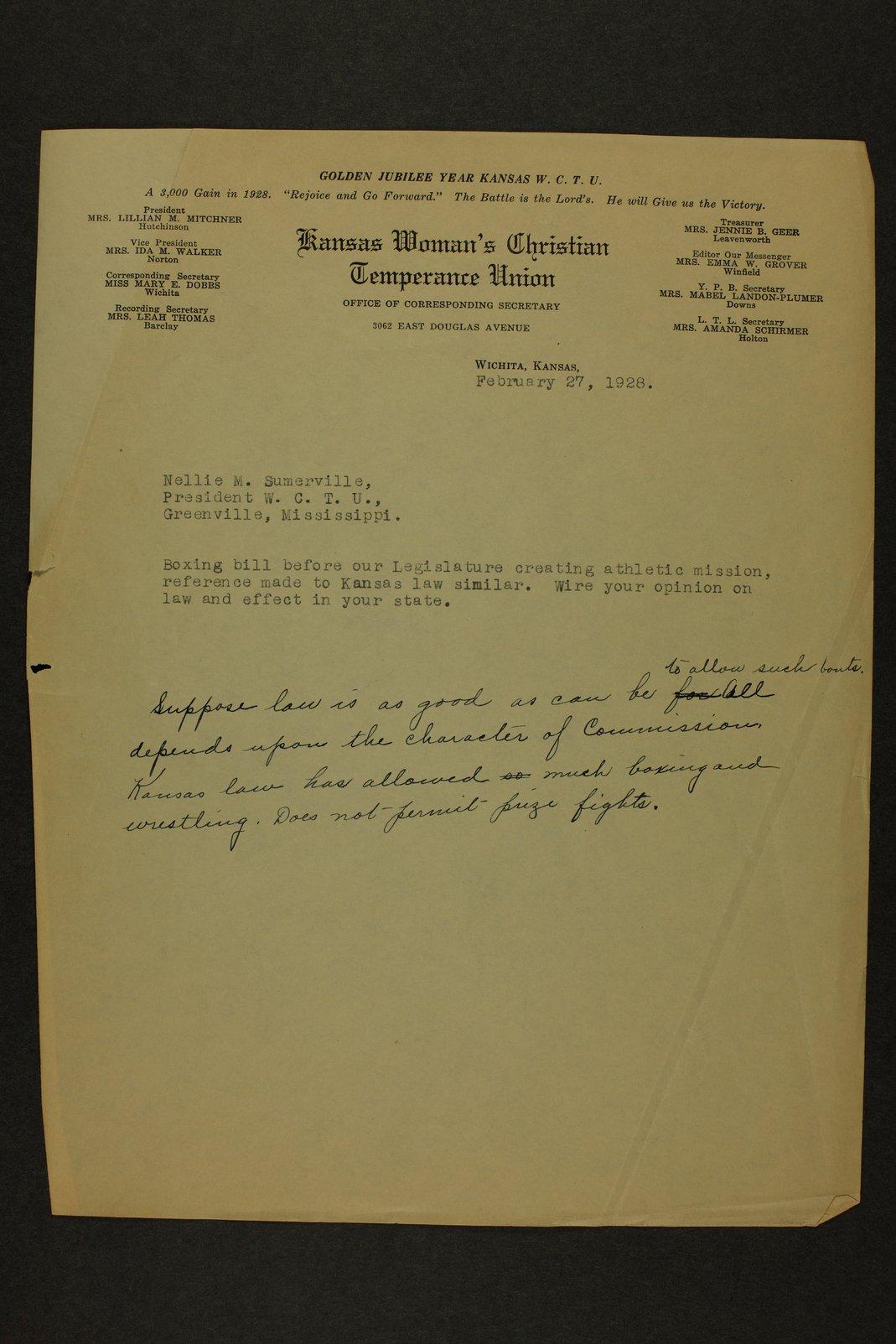 Kansas Woman's Christian Temperance Union permanent records - 45