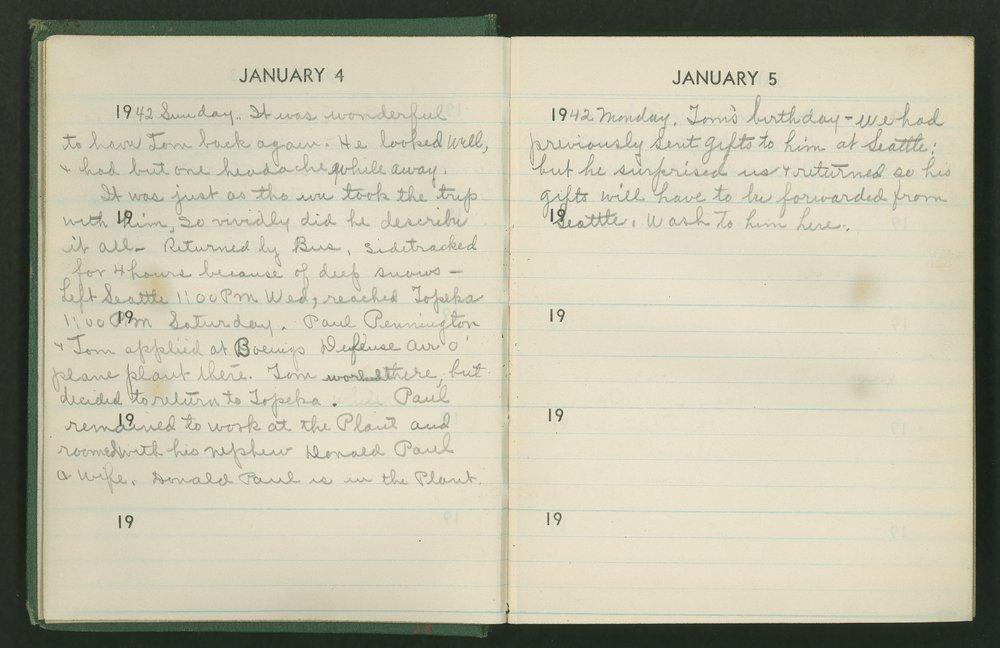 Claire Eva Paine diary -  [ 4 and 5]