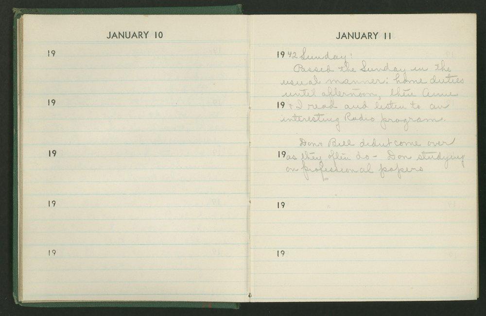 Claire Eva Paine diary -  [10 and 11]