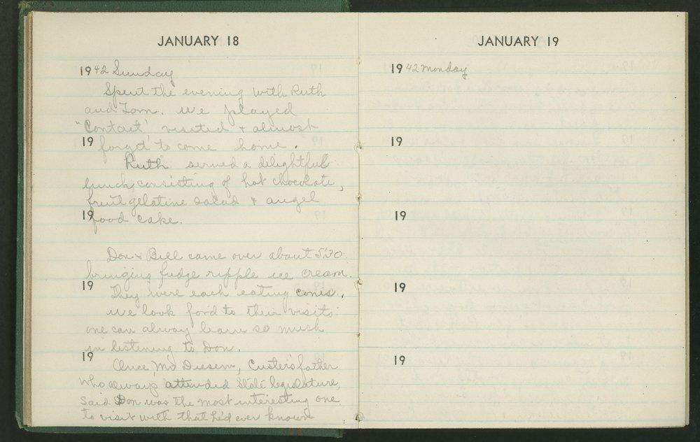 Claire Eva Paine diary - [18 and 19]