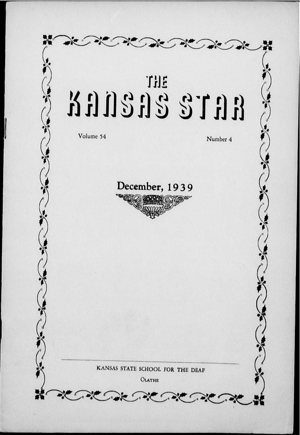 The Kansas Star, volume 54, number 4 - Front cover