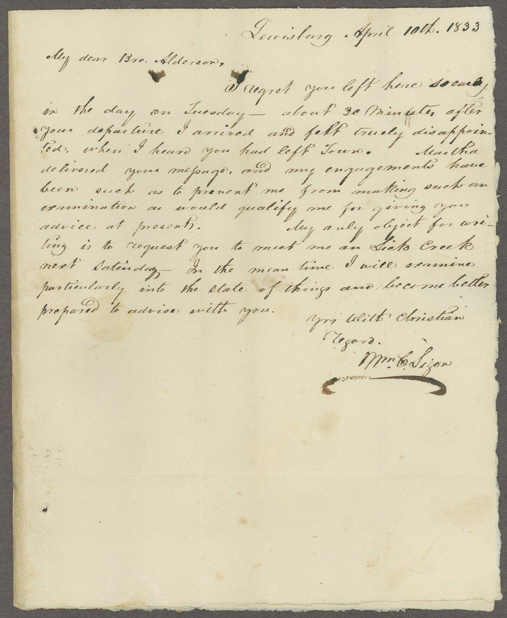 William C. Sigon to Lewis Allen Alderson - 1