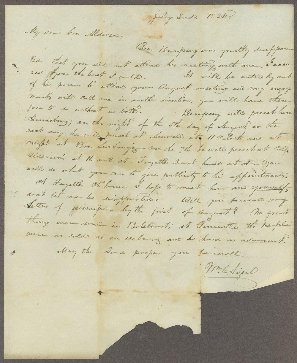 William C. Sigon to Lewis Allen Alderson - 6