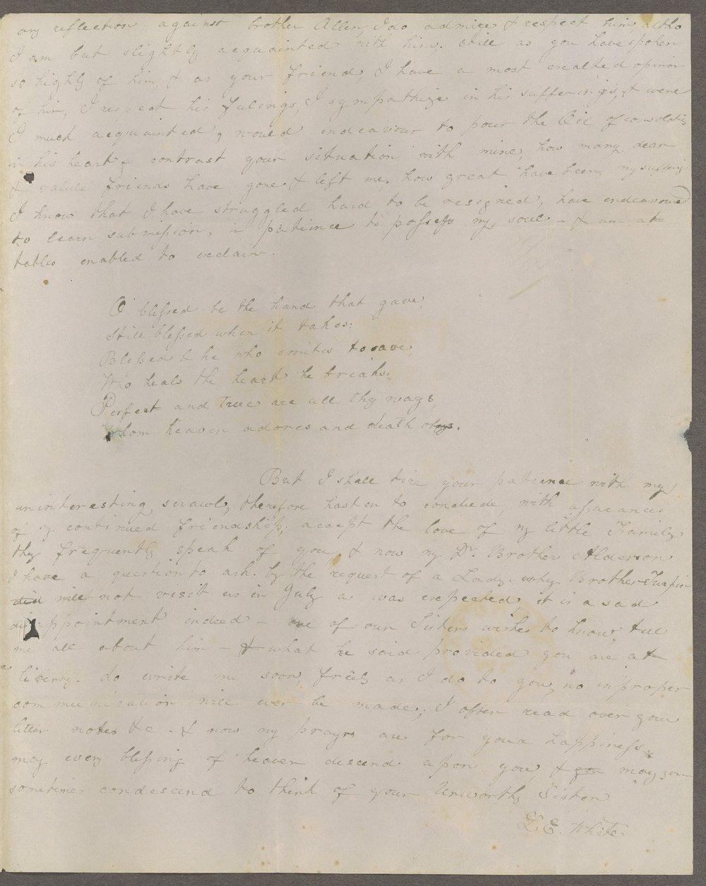 Louisa E. White to Lewis Allen Alderson - 7