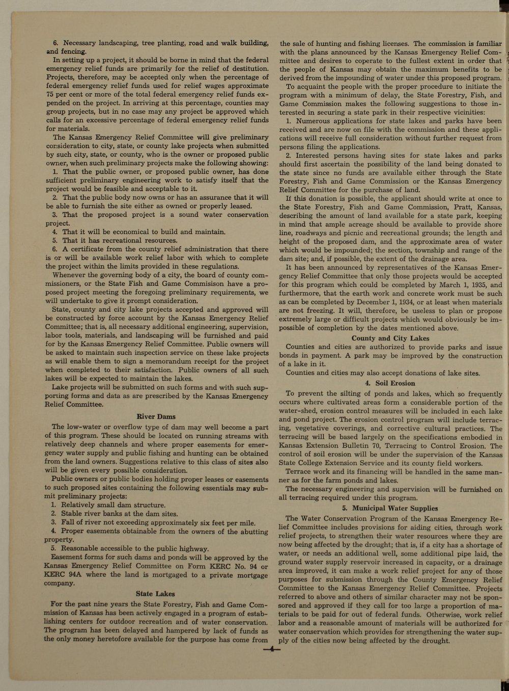 Kansas Emergency Relief Committee, bulletin 72 - 4