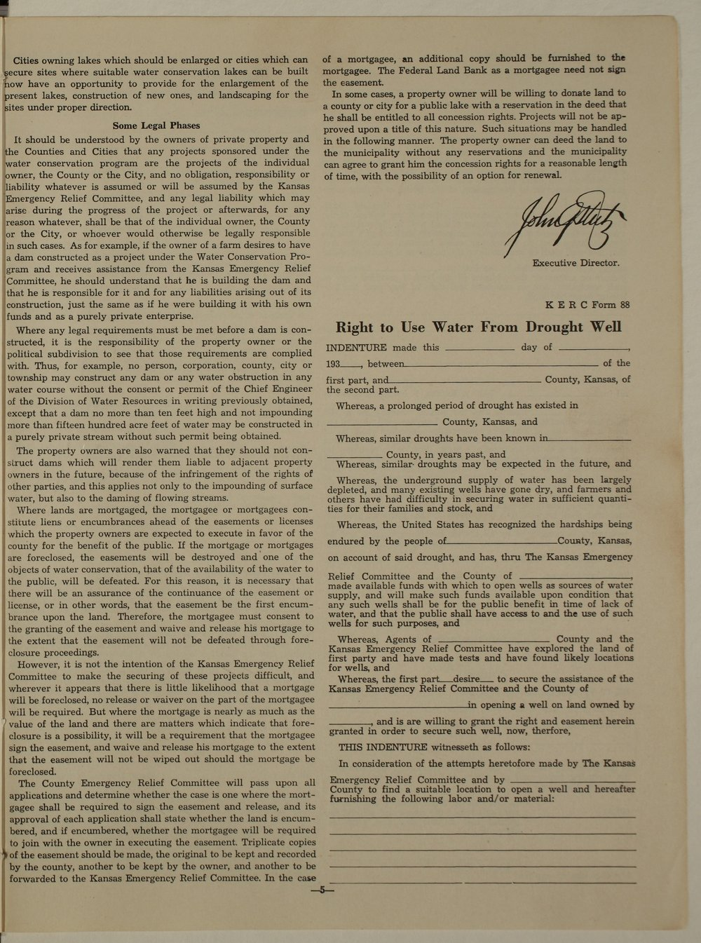 Kansas Emergency Relief Committee, bulletin 72 - 5