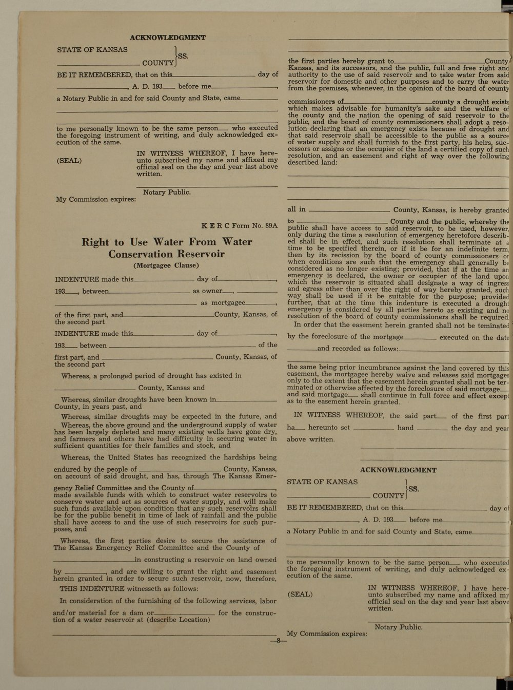 Kansas Emergency Relief Committee, bulletin 72 - 8