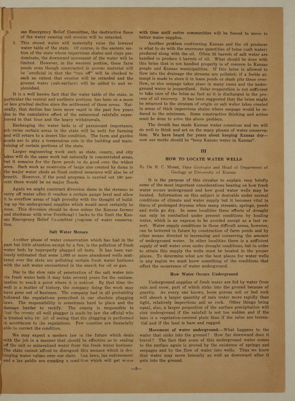 Kansas Emergency Relief Committee, bulletin 89 - 3