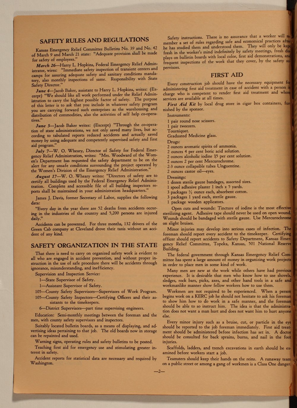 Kansas Emergency Relief Committee, bulletin 105 - 2