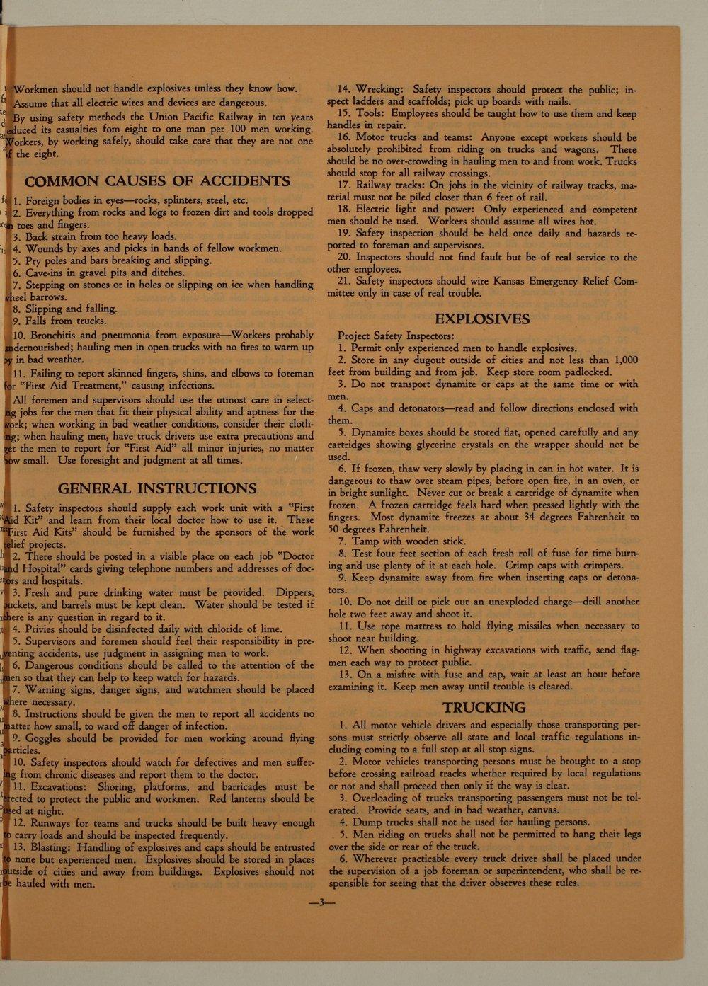 Kansas Emergency Relief Committee, bulletin 105 - 3
