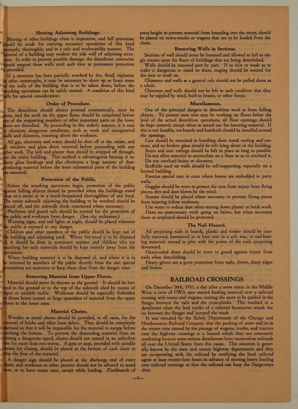 Kansas Emergency Relief Committee, bulletin 105 - 5