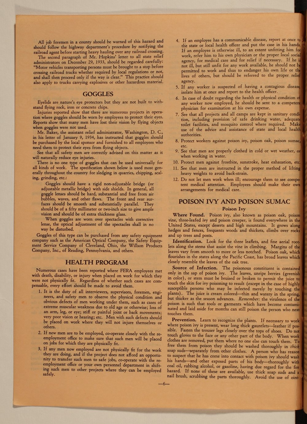 Kansas Emergency Relief Committee, bulletin 105 - 6