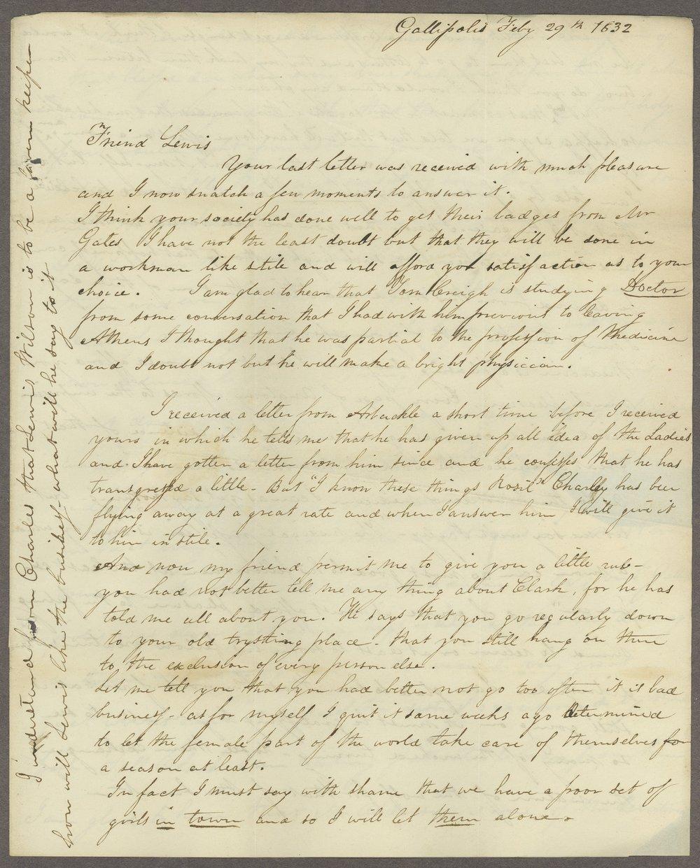 C. L. V. Bureau to Lewis Allen Alderson - 3