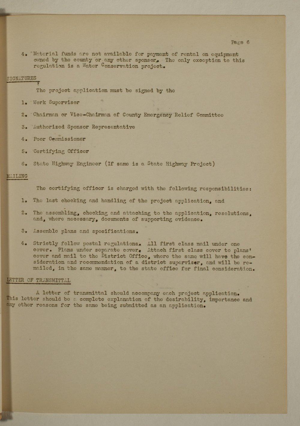 Manual of procedure, engineering department - 6