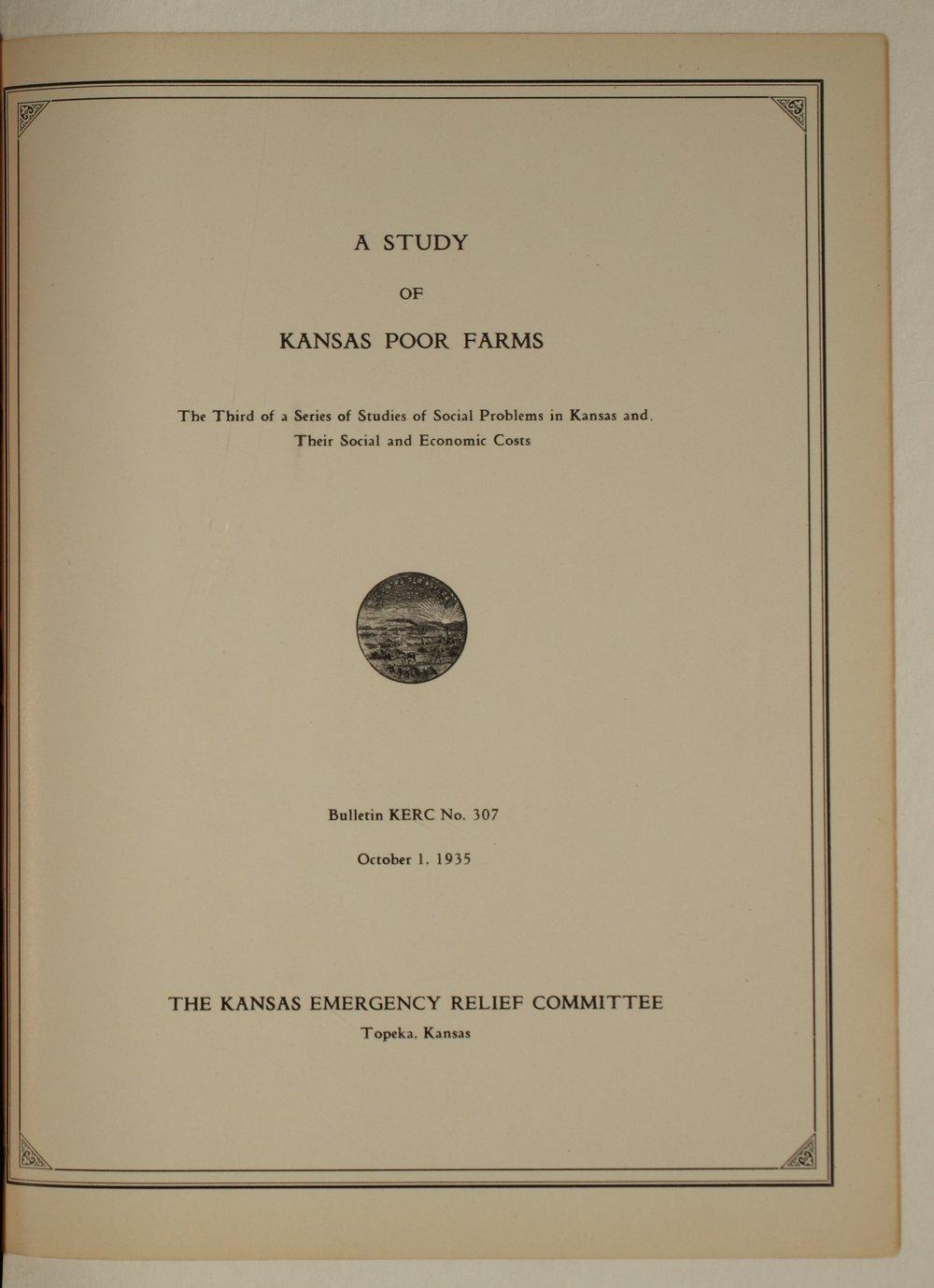 Kansas Emergency Relief Committee, bulletin 307 - i